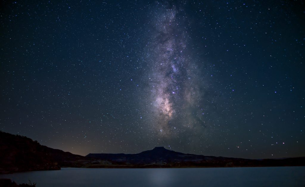 Lake Abiquiu, Pedernal and the Milky Way-X3